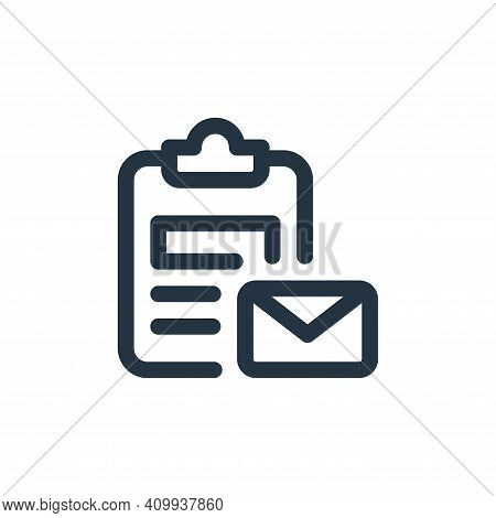 clipboard icon isolated on white background from web apps seo collection. clipboard icon thin line o