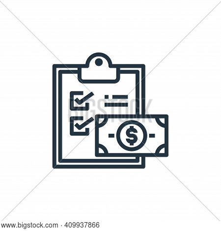 clipboard icon isolated on white background from hotel collection. clipboard icon thin line outline