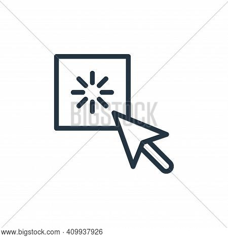 click icon isolated on white background from contact collection. click icon thin line outline linear
