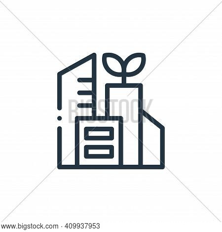 city icon isolated on white background from ecology collection. city icon thin line outline linear c