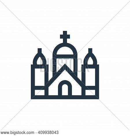 church icon isolated on white background from holland collection. church icon thin line outline line