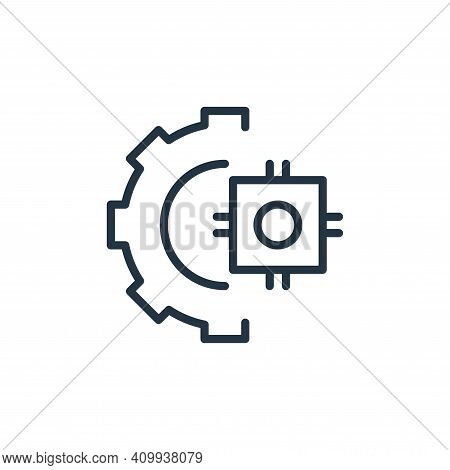 chip icon isolated on white background from engineering collection. chip icon thin line outline line