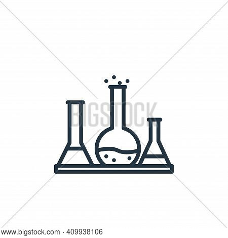 chemistry icon isolated on white background from elearning collection. chemistry icon thin line outl