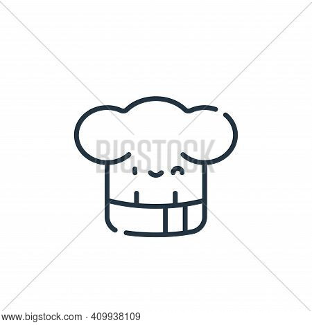 chef icon isolated on white background from italy collection. chef icon thin line outline linear che