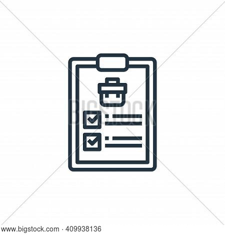 checklist icon isolated on white background from human resources collection. checklist icon thin lin