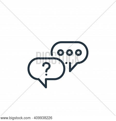 chat icon isolated on white background from online learning collection. chat icon thin line outline