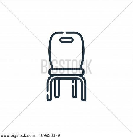 chair icon isolated on white background from academy collection. chair icon thin line outline linear