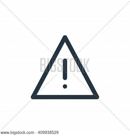 caution icon isolated on white background from user interface collection. caution icon thin line out