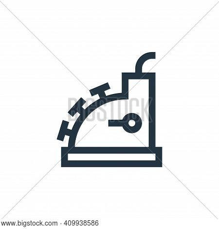 cashier machine icon isolated on white background from payment collection. cashier machine icon thin