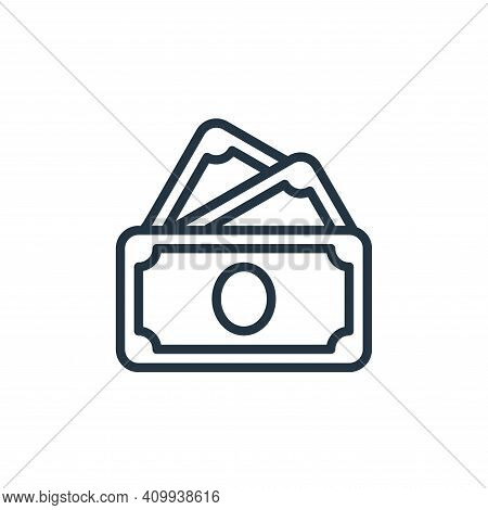 cash icon isolated on white background from money collection. cash icon thin line outline linear cas