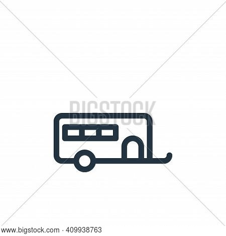caravan icon isolated on white background from holiday collection. caravan icon thin line outline li