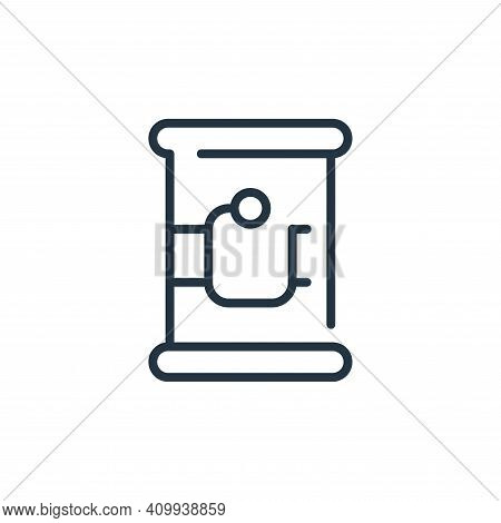 canned food icon isolated on white background from coronavirus collection. canned food icon thin lin