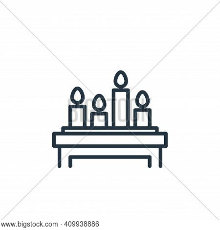 candles icon isolated on white background from funeral collection. candles icon thin line outline li