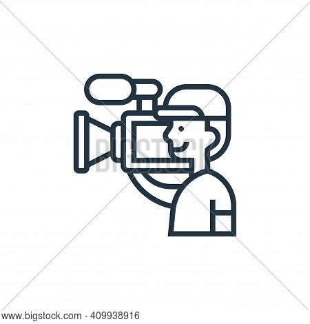 camera operator icon isolated on white background from cinema collection. camera operator icon thin
