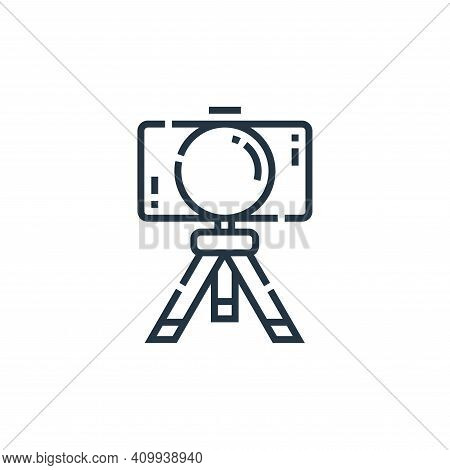 camera icon isolated on white background from videoblogger collection. camera icon thin line outline