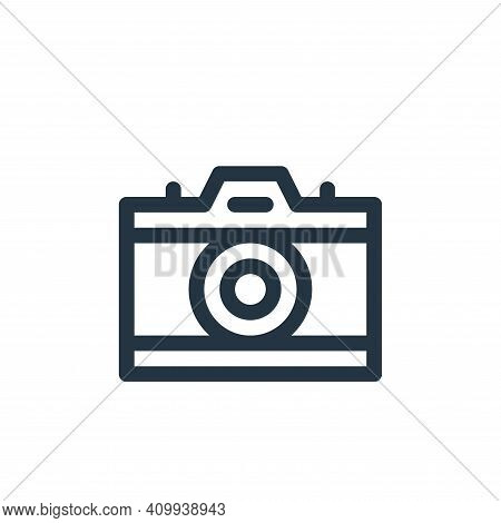 camera icon isolated on white background from communication and media collection. camera icon thin l