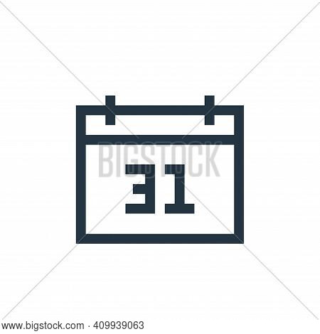 calendar icon isolated on white background from insurance collection. calendar icon thin line outlin