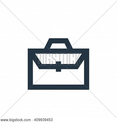 briefcase icon isolated on white background from user interface collection. briefcase icon thin line