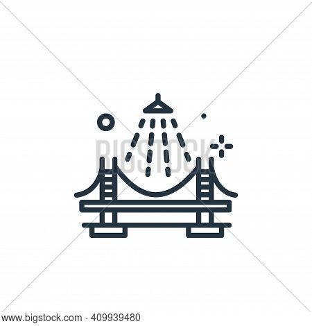 bridge icon isolated on white background from mass disinfection collection. bridge icon thin line ou