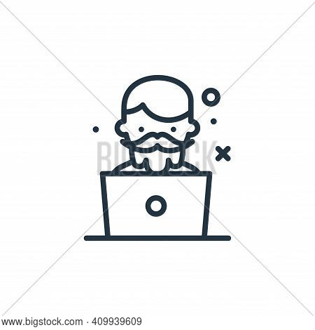 boy icon isolated on white background from work from home collection. boy icon thin line outline lin