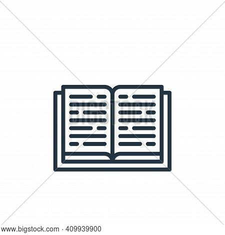 book icon isolated on white background from education collection. book icon thin line outline linear
