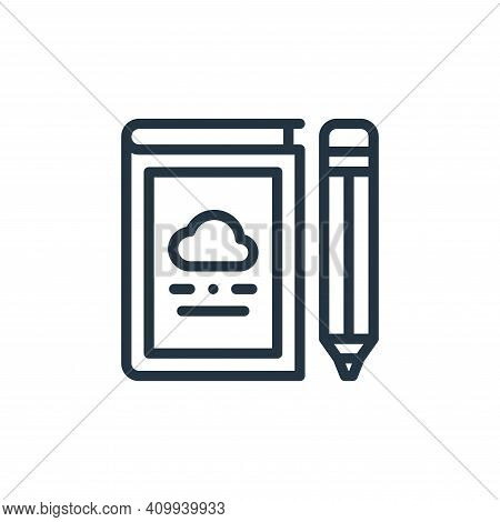 book icon isolated on white background from design thinking collection. book icon thin line outline