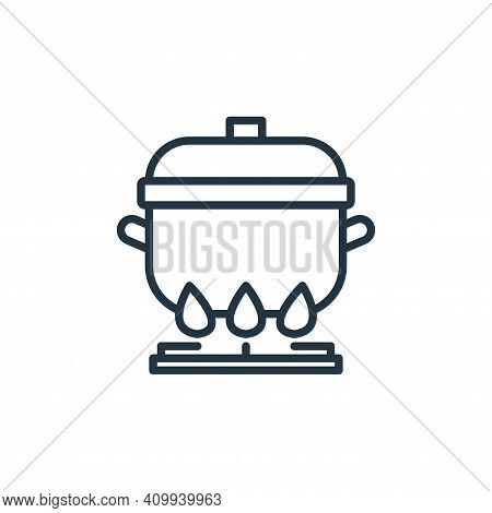 boiling icon isolated on white background from virus transmission collection. boiling icon thin line