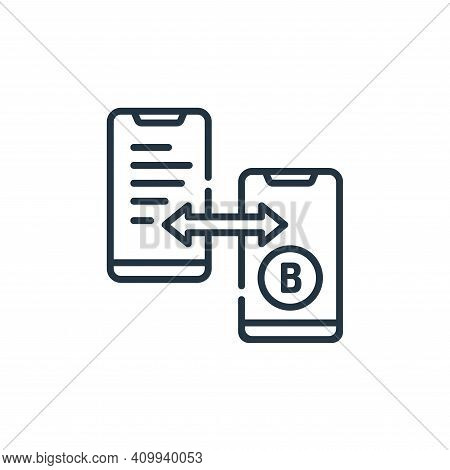 bitcoin icon isolated on white background from hacker collection. bitcoin icon thin line outline lin