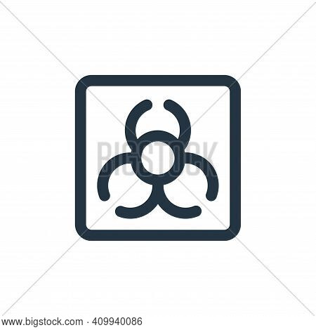 biohazard icon isolated on white background from virus transmission collection. biohazard icon thin