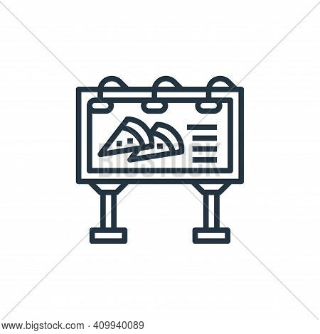 billboard icon isolated on white background from motorway collection. billboard icon thin line outli