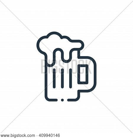 beer mug icon isolated on white background from mexico collection. beer mug icon thin line outline l