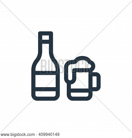 beer icon isolated on white background from england collection. beer icon thin line outline linear b