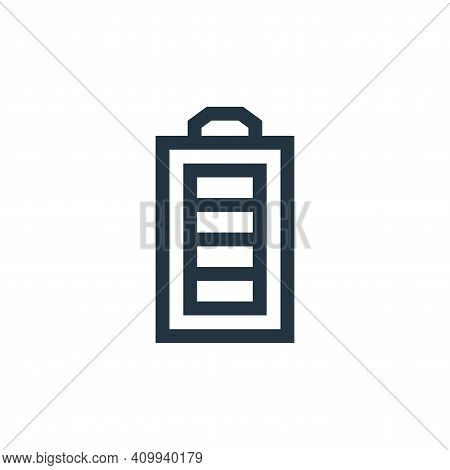 battery status icon isolated on white background from electrician tools and elements collection. bat