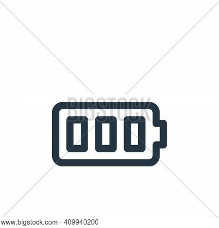 battery full icon isolated on white background from user interface collection. battery full icon thi