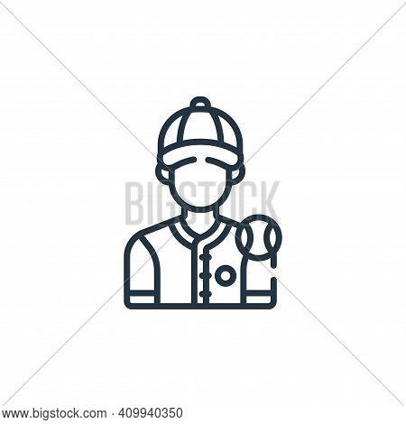 baseball player icon isolated on white background from baseball collection. baseball player icon thi