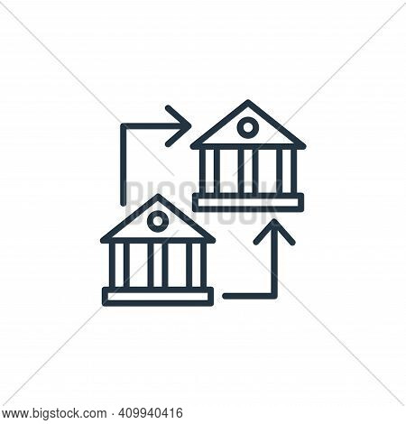 bank transfer icon isolated on white background from shopping line icons collection. bank transfer i