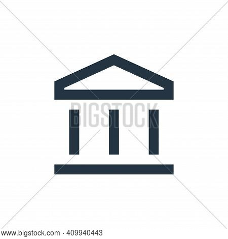 bank icon isolated on white background from user interface collection. bank icon thin line outline l