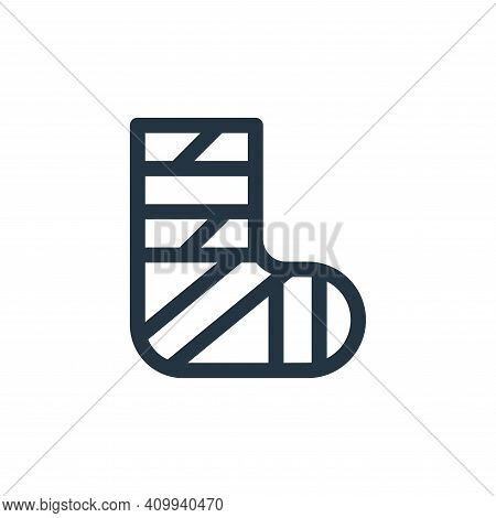 bandage icon isolated on white background from health collection. bandage icon thin line outline lin