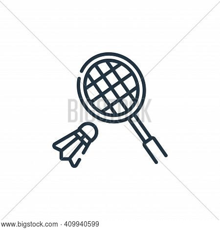 badminton icon isolated on white background from free time collection. badminton icon thin line outl