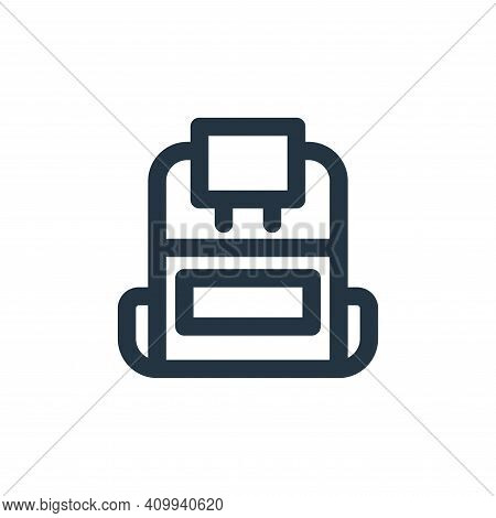 backpack icon isolated on white background from holiday collection. backpack icon thin line outline
