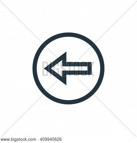 back arrow icon isolated on white background from web essentials collection. back arrow icon thin li