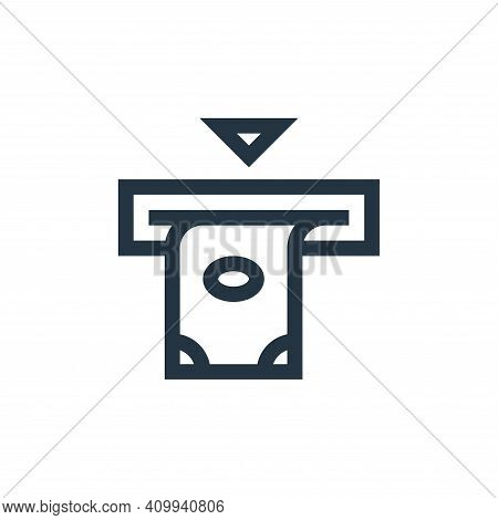 atm icon isolated on white background from payment collection. atm icon thin line outline linear atm