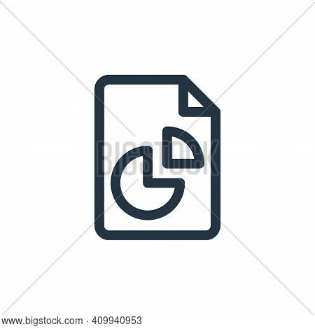 analytics icon isolated on white background from document and files collection. analytics icon thin