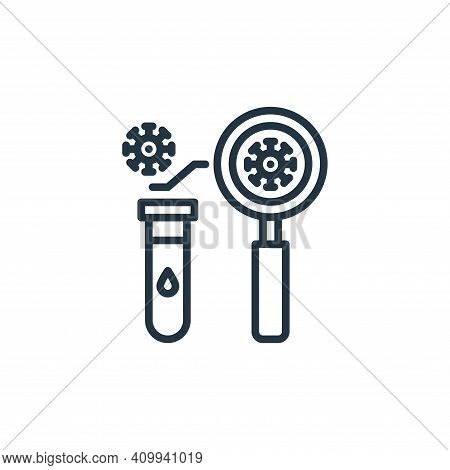 analysis icon isolated on white background from virus collection. analysis icon thin line outline li