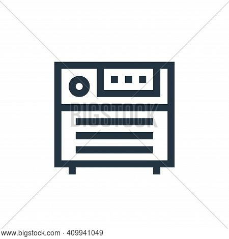 amplifier icon isolated on white background from rock and roll collection. amplifier icon thin line