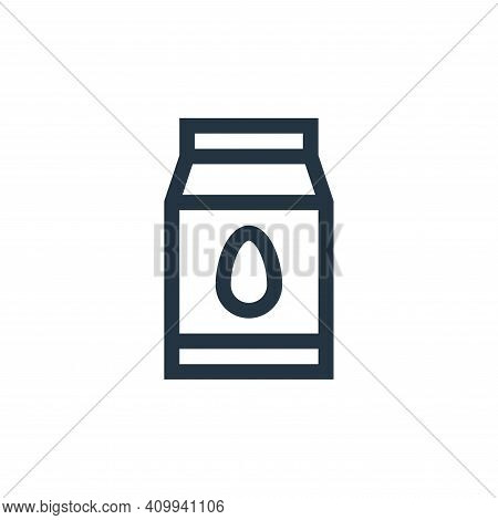 almond milk icon isolated on white background from vegan collection. almond milk icon thin line outl