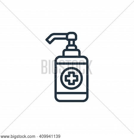 alcohol gel icon isolated on white background from coronavirus collection. alcohol gel icon thin lin