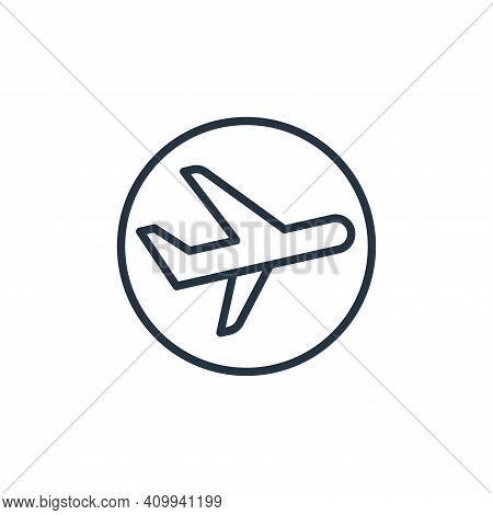airplane icon isolated on white background from stop virus collection. airplane icon thin line outli