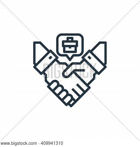 agreement icon isolated on white background from human resources collection. agreement icon thin lin