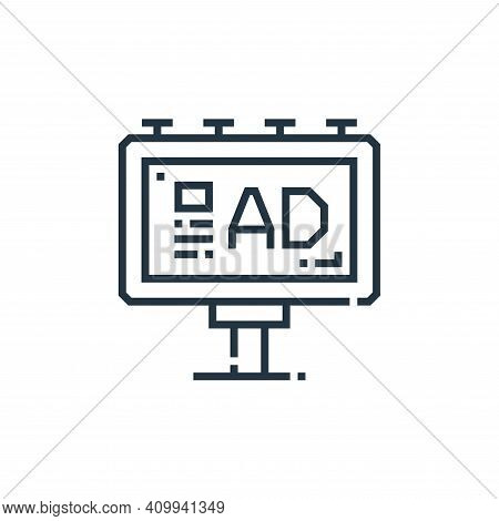 advertising icon isolated on white background from marketing collection. advertising icon thin line